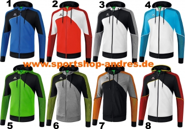 Erima Herren Premium One 2.0 Trainingsjacke mit Kapuze
