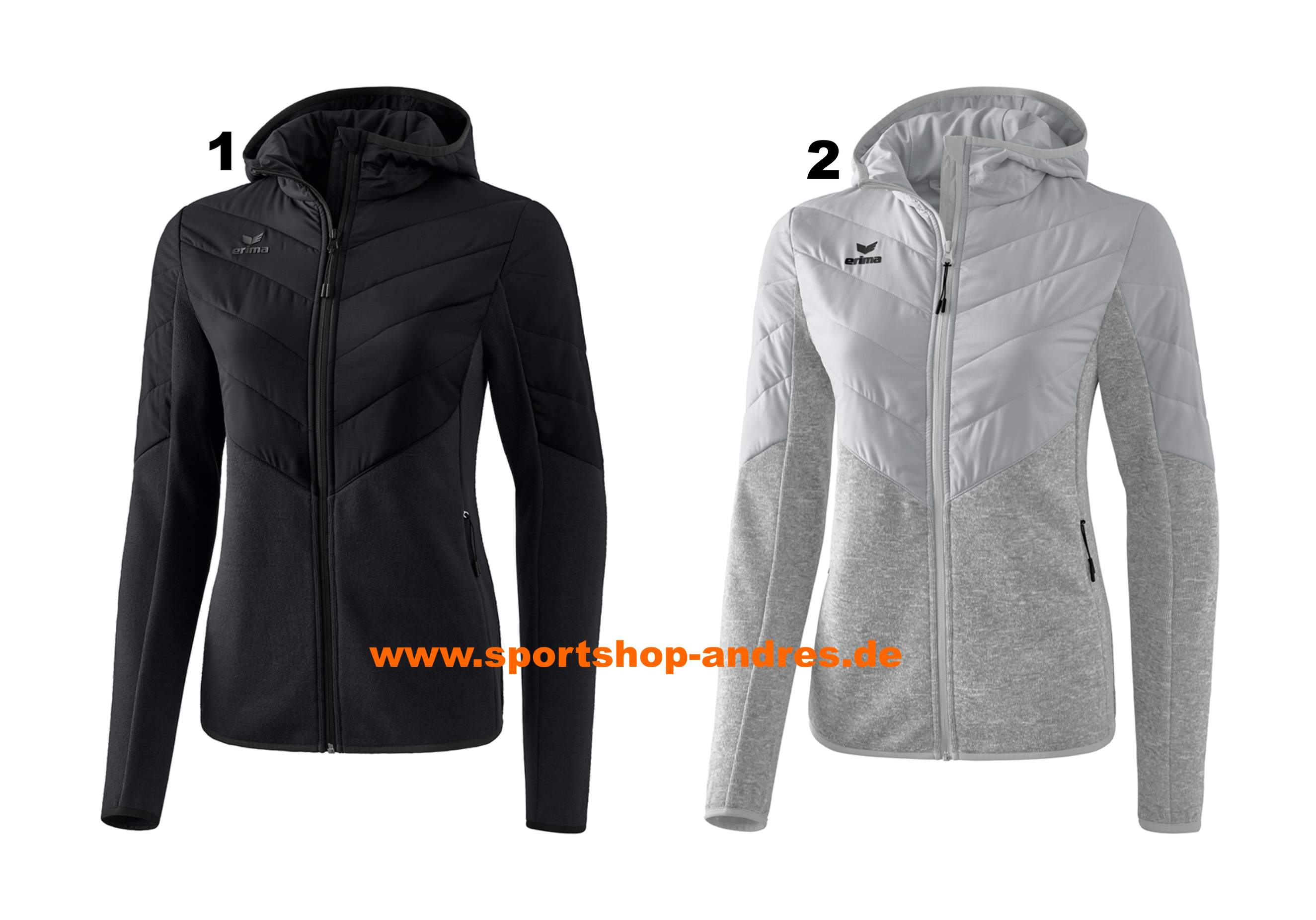 Erima Stepp-//Strickjacke mit Kapuze Damen Outdoor Frauen Winterjacke Fleece
