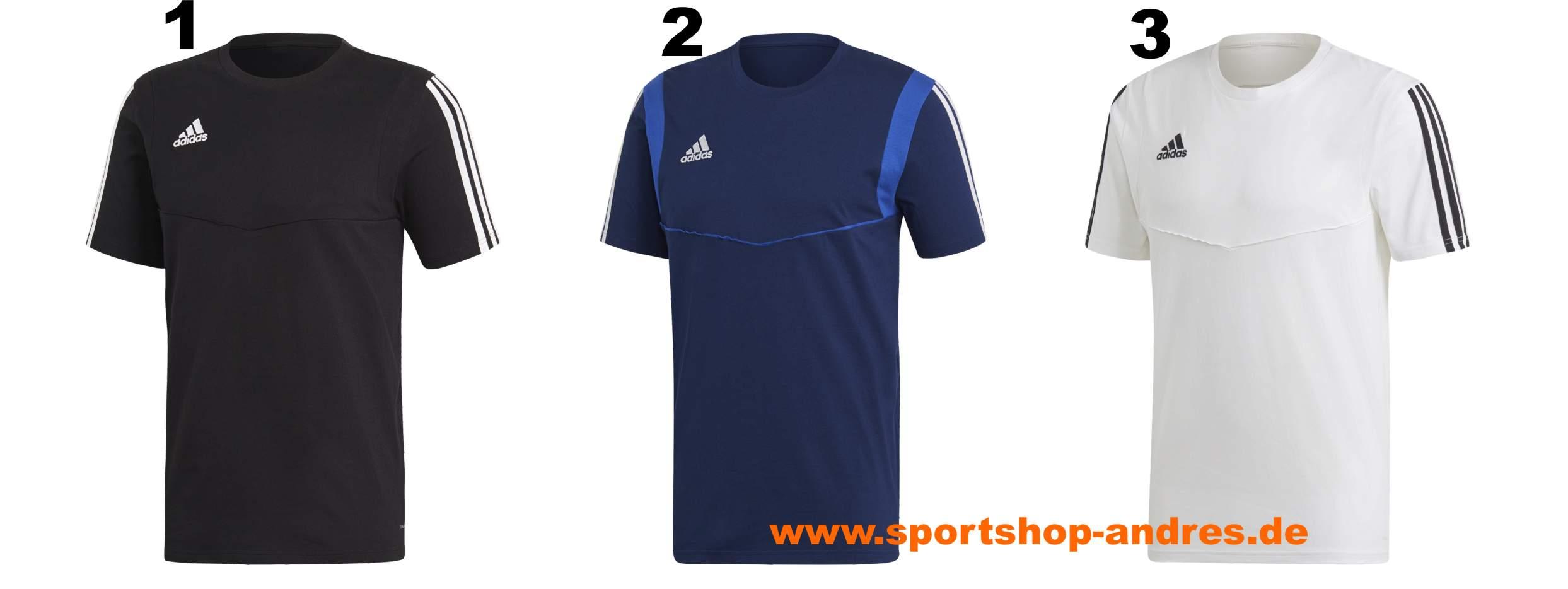 T shirt adidas Tiro 19 Tee Dt5792 XXL schwarz
